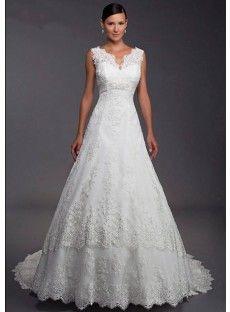 Satin Sleeveless A Line Wedding Dress