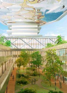 """""""Le Cinq"""" Office Tower / Neutelings Riedijk Architects,© Neutelings Riedijk Architects / Buelens - Visualisatie A2STUDIO"""