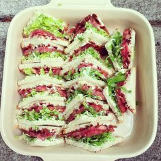 designer bags and dirty diapers Best Party Food, Party Food And Drinks, Yummy Appetizers, Appetizer Recipes, Mini Blt, Party Food Buffet, Party Sandwiches, Daily Meals, Easy Healthy Recipes
