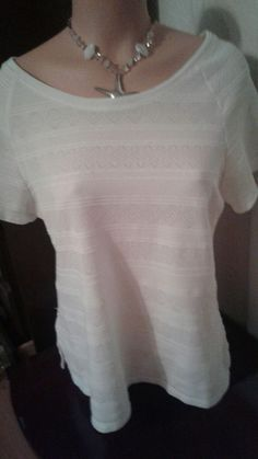 H & M WHITE XL HEAVYWEIGHT TOP EUC #HM #KnitTop #Casual
