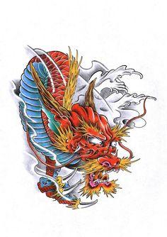 dragon color tattoo