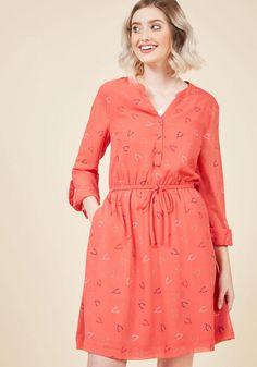 AdoreWe - ModCloth Effortless on Arrival Shirt Dress in Wishbones in XS - AdoreWe.com