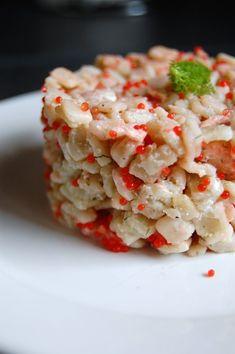 Crozets au saumon et à l'aneth   Torchons & Serviettes