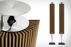 Bang & Olufsen Beolab 18 Speakers - love the design influences Fi Car Audio, Hifi Speakers, Sound Speaker, Mens Toys, Bang And Olufsen, Technology Gadgets, Technology Design, Audiophile, Cool Gadgets
