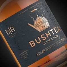 Bushtea Rum #packaging