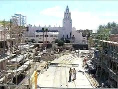 A view of the new Buena Vista street from the Monorail
