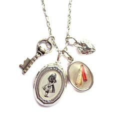 Wonderland Locket Necklace  As Featured in The Wonder Room Selfridges London by hoolala, $39.50