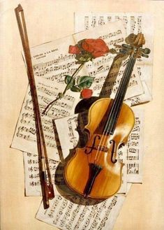 Violin - for the musician - for the love of music Violin Art, Violin Music, Music Music, Violin Sheet, Cello, Sound Of Music, Music Is Life, Sheet Music Art, Mountain Illustration