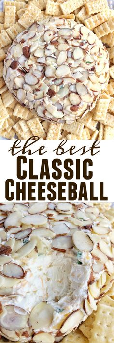 This classic cheeseball is creamy, smooth and full of flavor. It's so easy to make and a perfect appetizer.