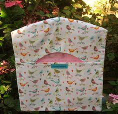 Birds in the Garden Peg Bag Clothes Peg Bag by FromeRiverStudios Clothespin Bag, Peg Bag, Clothes Pegs, Wooden Hangers, Studios, Shabby Chic, Birds, River, Garden