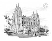 I have hundreds of LDS related sketches, etchings and more of everything LDS on my website at http://www.chadhawkins.com Check it out!