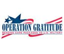 Operation Gratitude sends 150,000+ care packages filled with snacks, entertainment, hygiene and hand-made items, plus personal letters of appreciation, to Veterans, First Responders, Wounded Warriors, Care Givers and to individually named U.S. Service Members deployed overseas.