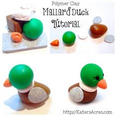 How to make a CUTE and simple Mallard Duck topper