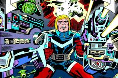 Dynamite will relaunch Jack Kirby's 'Captain Victory and the Galactic Rangers' with Joe Casey and an army of top cartoonists in July. Thor, Jack Kirby Art, Comic News, Art Studies, Marvel Characters, Anime Comics, Victorious, Comic Art, Ranger