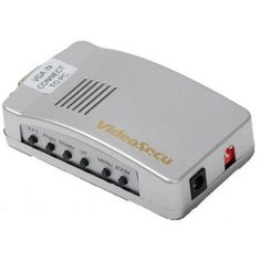 VideoSecu PC to TV Converter VGA to RCA S-Video Mac Computer Laptop to Composite Video Switcher VGA2