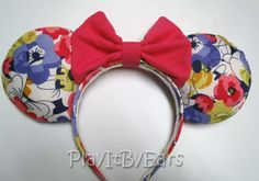 Handmade Minnie Floral Mouse ears headband by PlayItByEars on Etsy