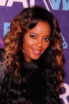 Angela Simmons Pink Lipstick - Angela Simmons attended BET's 2012 Rip the Runway wearing glossy bubblegum pink lipstick.