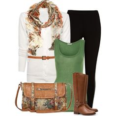 """A Touch of Antique"" by chelseagirlfashion on Polyvore   (love it but def a different handbag!)"