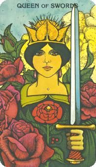 March 20 Tarot Card: Queen of Swords (Morgan-Greer deck) Hold your ground now ~ only you know what's best for you