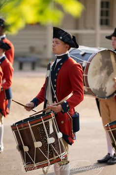 The Fife & Drum Corps at Colonial Williamsburg, Virginia
