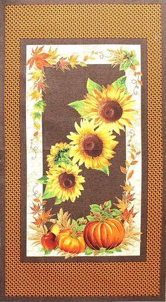 Marcus Fabrics - Faye Burgos 'Sunflower Trails' Golddruck Bildgröße 60 cm x 110 cm bm-140-01-6077
