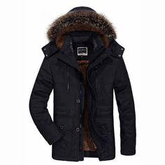 SAGUARO Plus Size 6XL Winter Jacket Men Detachable Fur Hooded Warm Parka Men 2017 Plus Velvet Thicken Military Coat erkek mont