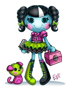 lalaloopsy scraps stitched and sewn doll-drawing, possible tattoo!