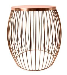 NEW Industrial Hamptons copper Metal Retro side Table Stool Bedside Coffee