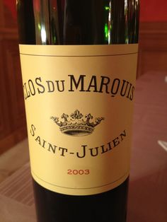 Amazing St. Julien !! 2nd favorite after Saint-Estephe of course...