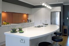 Acrylic Solid Surface Kitchen counter from Tristone .