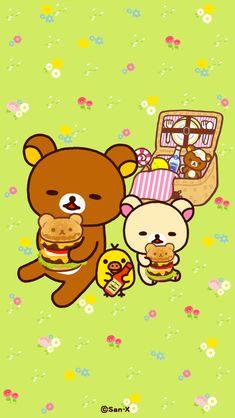Rilakuma Wallpapers, Cute Characters, Fictional Characters, Kawaii Wallpaper, Rilakkuma, Sanrio, Cute Wallpapers, My Drawings, Pikachu