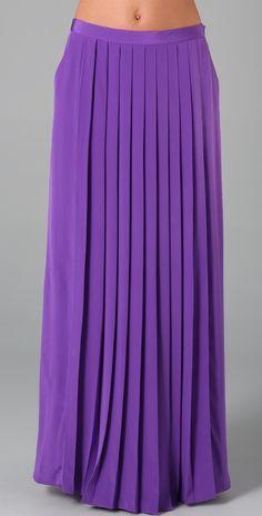 Tibi Long Pleated Skirt