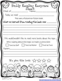 Buddy Reading Response Form