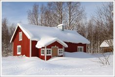 Nobody home - Polvijarvi, Eastern Finland Hiding Places, Contemporary Design, Snow, Cabin, Cold, Country, House Styles, Winter, Home Decor