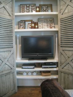 antique doors hide tv