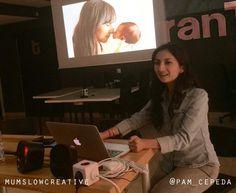 Pame Cepeda de MumSlowCreative hablando sobre su proyecto