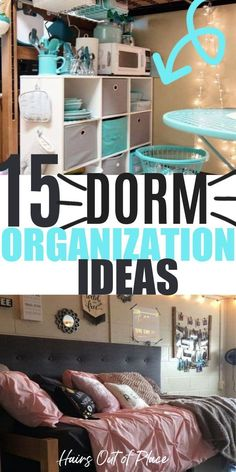 15 college dorm room organization ideas that are clever. You'll love these dorm room essentials for your small space.