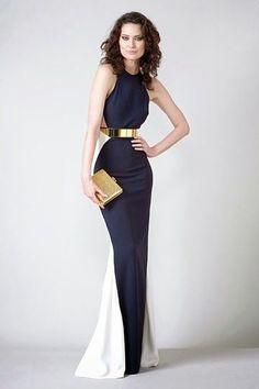 Vestido de noche, elegante y algo minimalista
