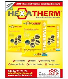 The 2015 HEXATHERM Thermal Insulation Brochure is now available from Cellecta.