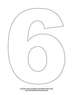 Dibujos de números para colorear: Número 6 para colorear Paper Flower Patterns, Paper Flowers, Alphabet Letter Templates, Free Printable Numbers, Rose Outline, Abc Coloring Pages, Quiet Book Templates, Flashcards For Kids, Cake Stencil