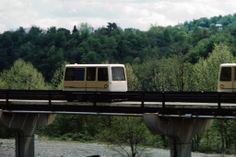 Morgantown guideway without panels