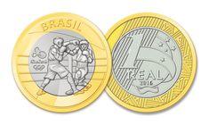Moedas Comemorativas dos Jogos Olímpicos e Paralímpicos Rio 2016 Brazil 2016, Rio Olympic Games, Coin Values, Rio Olympics 2016, World Coins, Game 1, 2016 Rio, 1 Real, Paintings