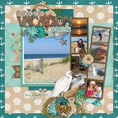 Beach Vacation Mode - Scrapbook.com