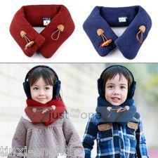 Baby Toddler Kids Children Boys Girls Neck Warmer Warm Winter Loop Wraps Scarf