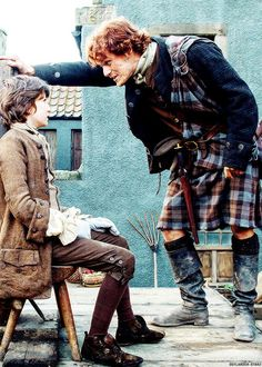"""So, Laddie, Got yurself pinned, eh?"" (This was a wonderful scene that had me cheering when it was resolved!)"