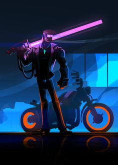 Luke Viljoen: Neo 80s Biker