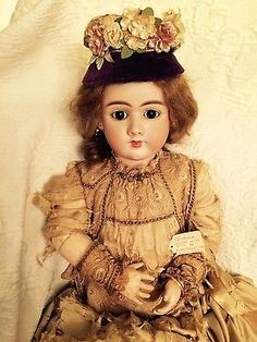 ANTIQUE-Doll-HANDWERCK-DEP-47-Bisque-Head-32-034-Composition-Body-Sleep-Eye-Earring