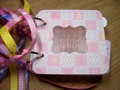 Baby Girl Premade Mini Scrapbook Album by HampshireRose on Etsy, $30.00