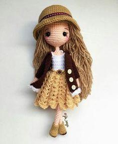 Mesmerizing Crochet an Amigurumi Rabbit Ideas. Lovely Crochet an Amigurumi Rabbit Ideas. Crochet Doll Pattern, Crochet Patterns Amigurumi, Amigurumi Doll, Crochet Diy, Crochet Gifts, Crochet Ideas, Irish Crochet, Knitted Dolls, Crochet Dolls