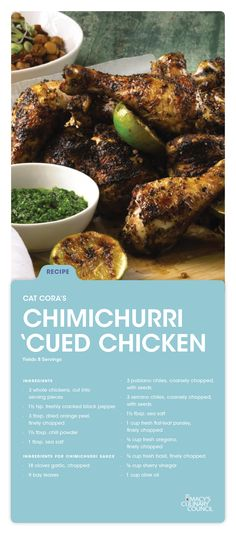 Fire up the grill and add some kick to a classic dish with Macy's Culinary Council Cat Cora's Chimichurri 'Cued Chicken.